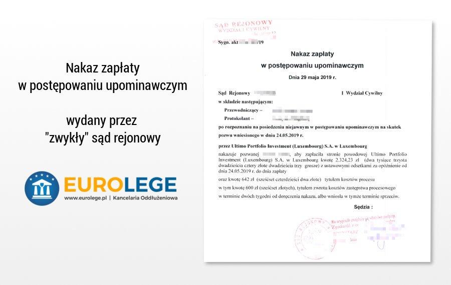 jak napisać sprzeciw od nakazu zapłaty w postępowaniu upominawczym wydanym przez sąd rejonowy