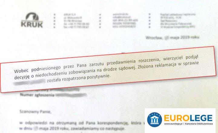 pismo przedawnienie długu wzór
